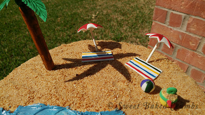 Beach cake - Top view - 680 px
