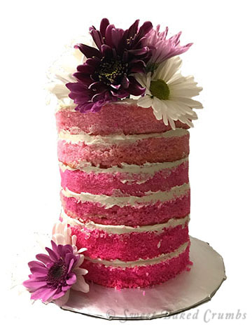 Naked cake - Ombre effect - 350px