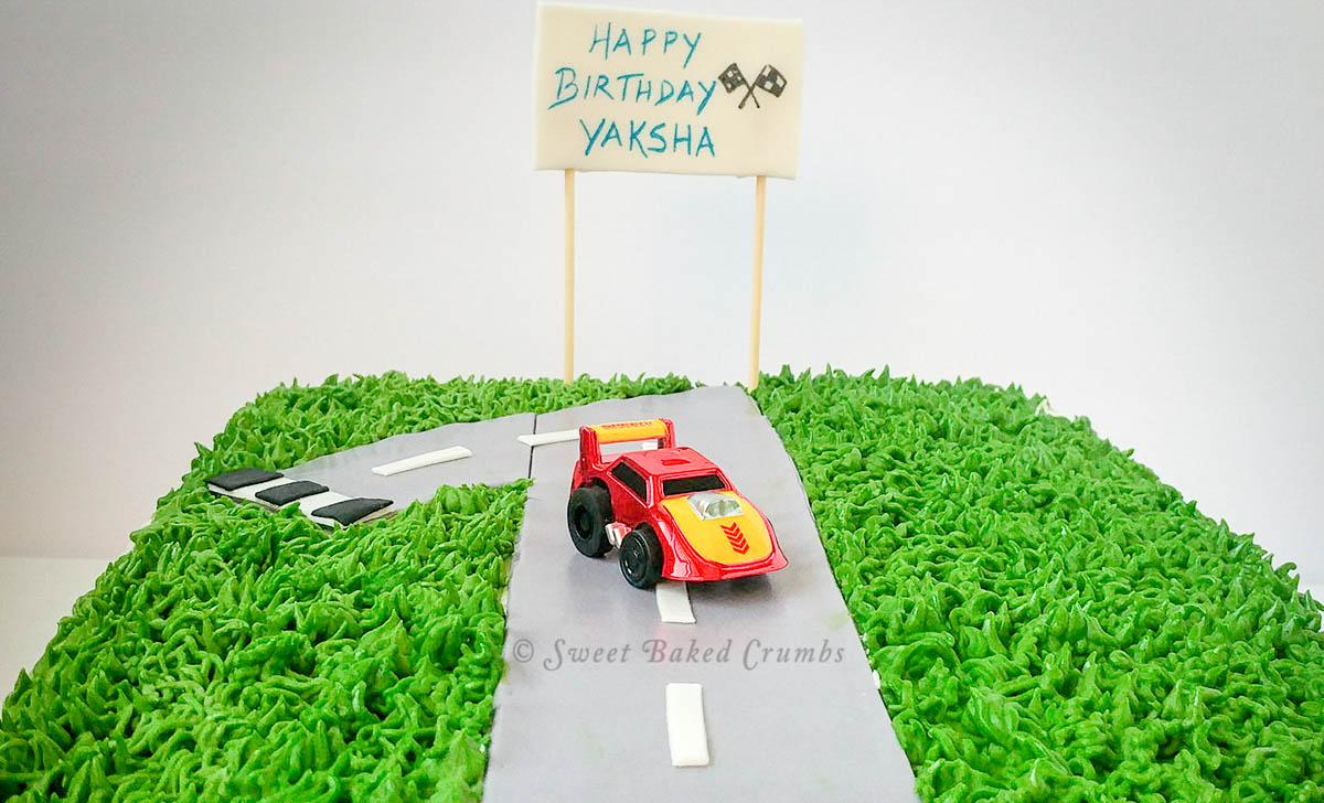 Sheet cake - Car theme